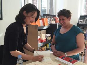 Muriel Barbery dédicace à la LibrairieKléber