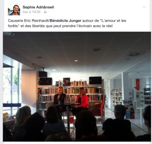Sophie Adriansen évoque la rencontre