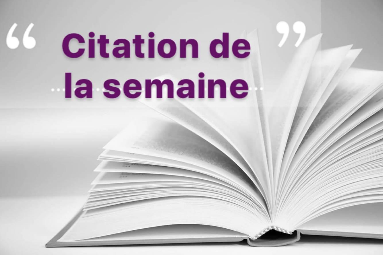 Citation De La Semaine Entre Les Lignes